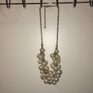 "Chunky ""Pearl"" necklace gold chain"